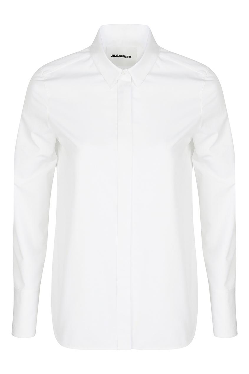 женская рубашка jil sander navy, белая