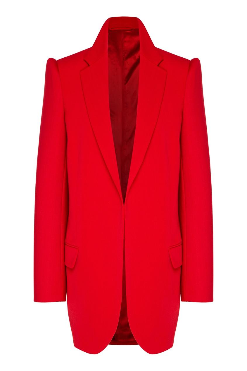 женский пиджак balenciaga, красный