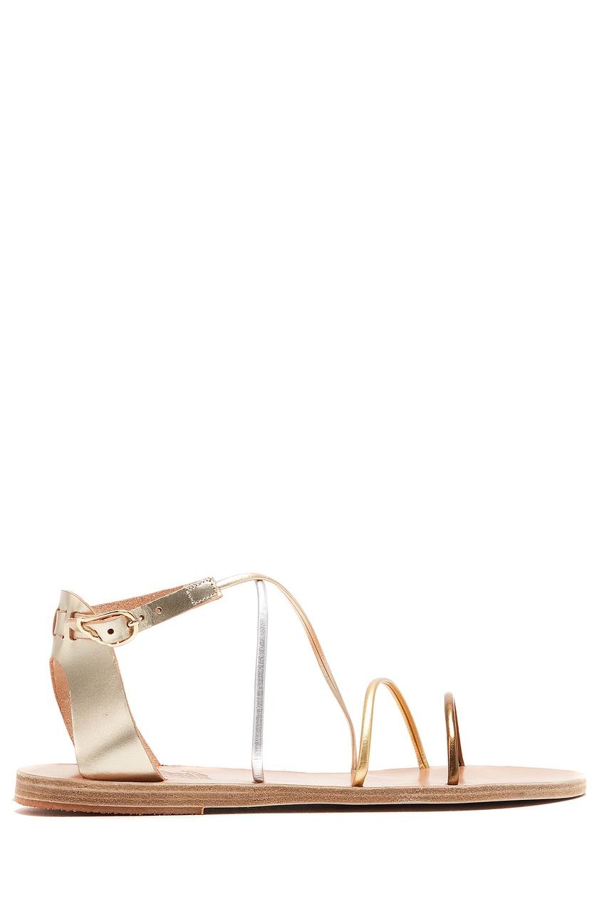 женские сандалии ancient greek sandals, золотые