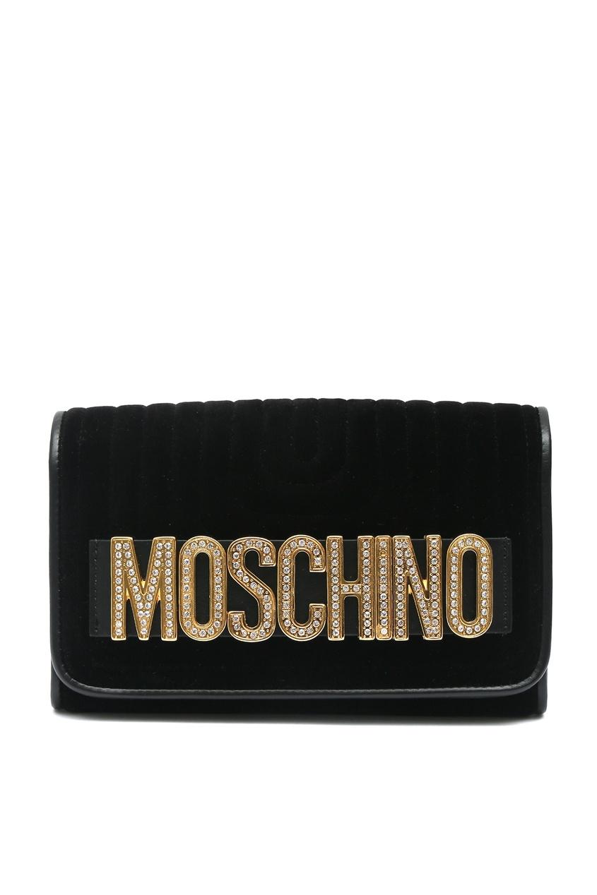 женский клатч moschino, черный