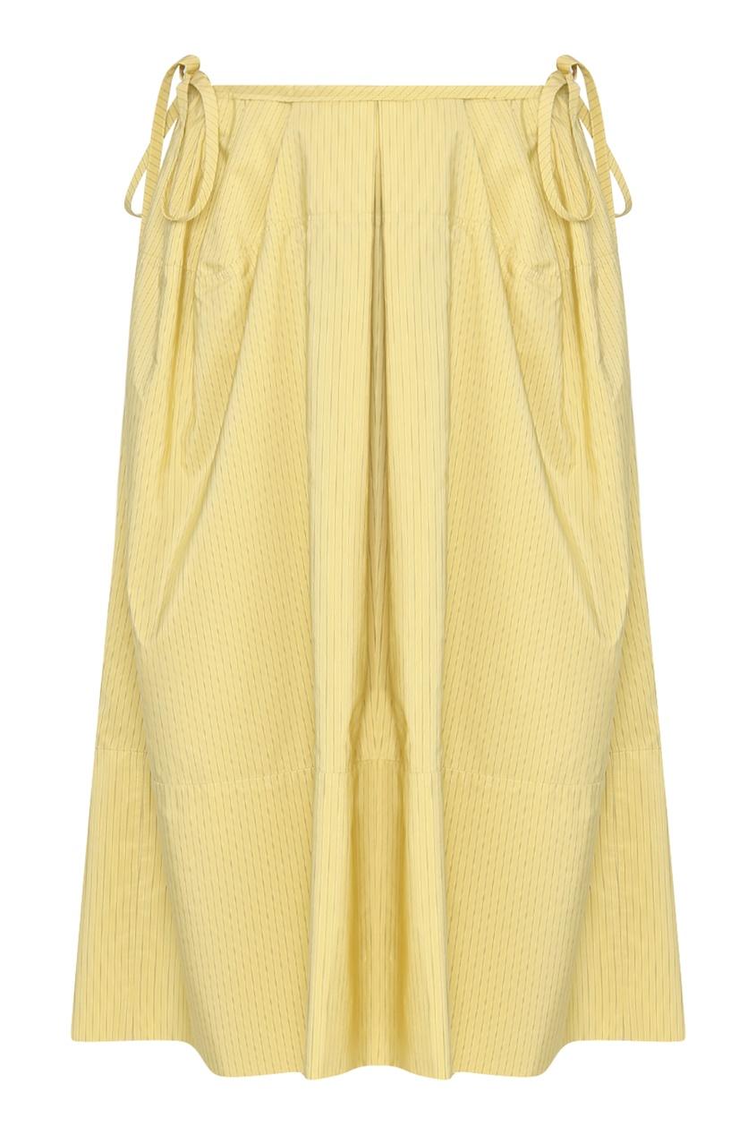 женская юбка jil sander navy, желтая