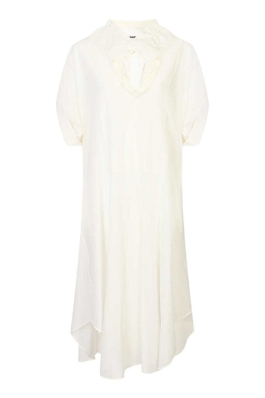 женское платье jil sander navy, белое