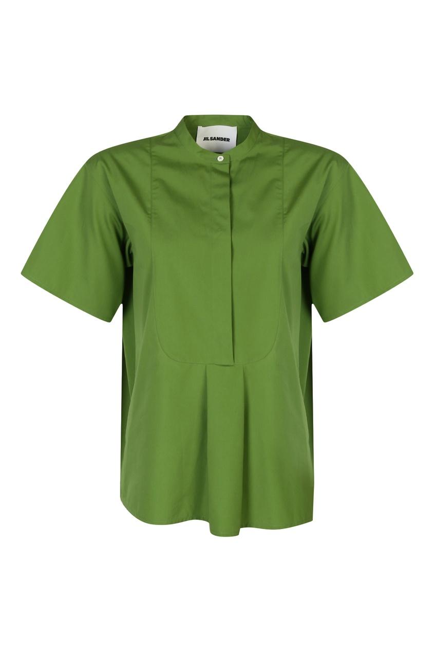 женская рубашка jil sander navy, зеленая