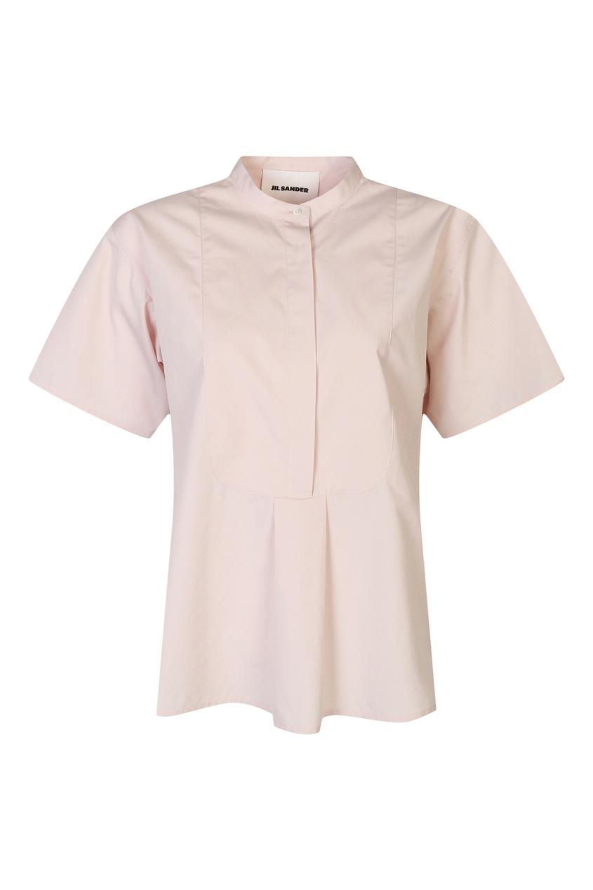 женская рубашка jil sander navy, розовая