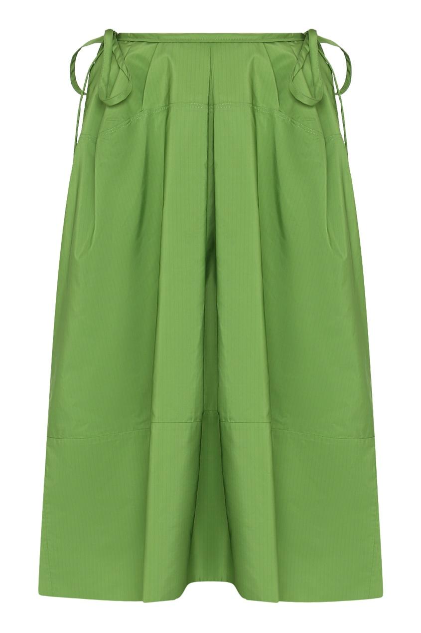 женская юбка jil sander navy, зеленая