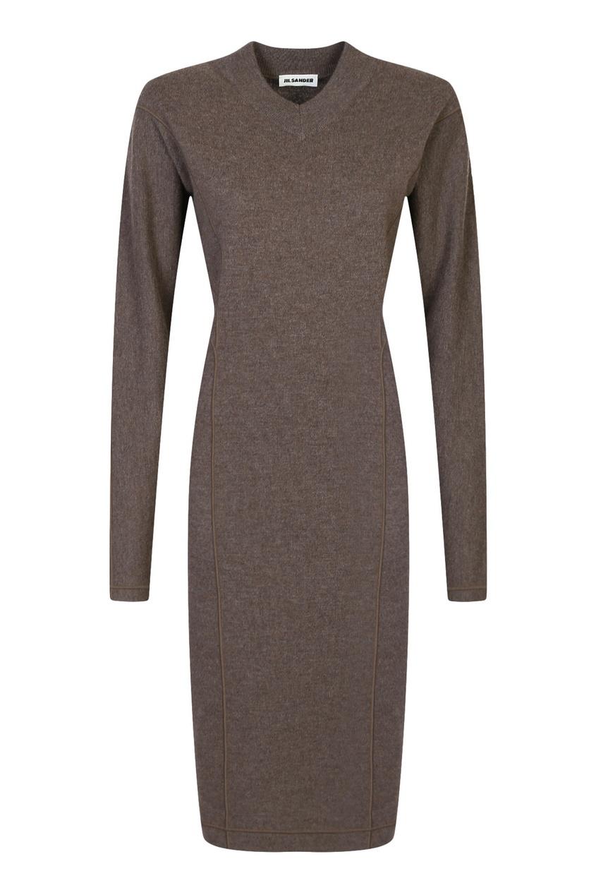 женское платье jil sander navy, коричневое