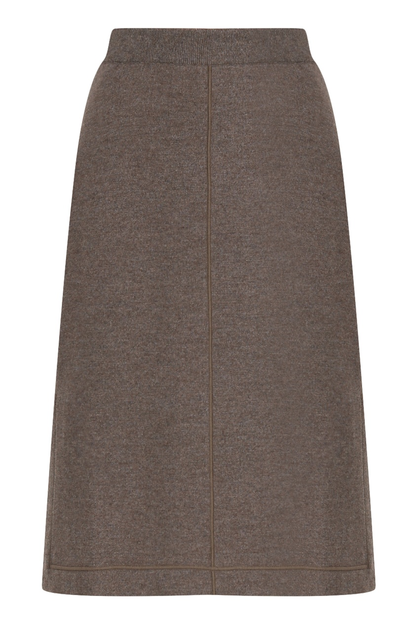 женская юбка миди jil sander navy, коричневая