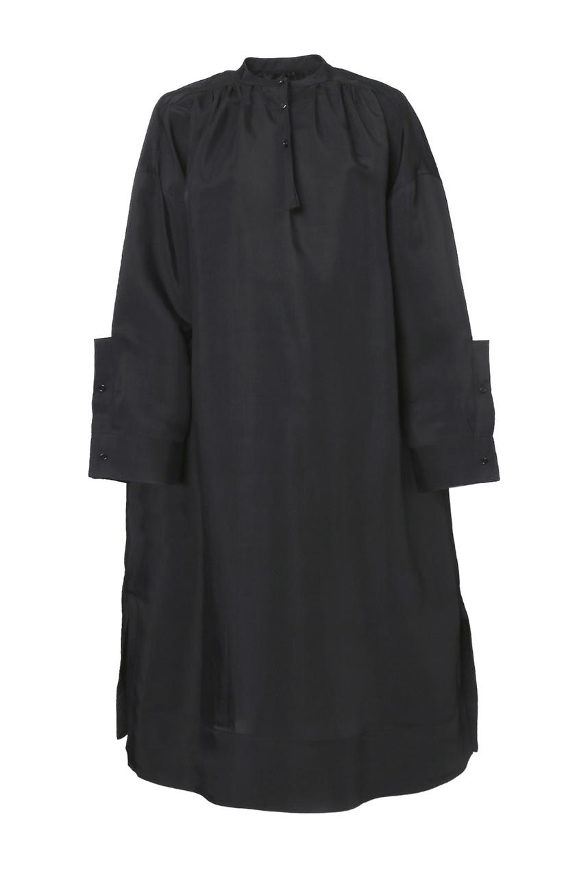 женское шерстяные платье jil sander navy, черное