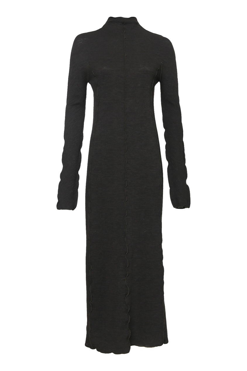 женское платье миди jil sander navy, коричневое