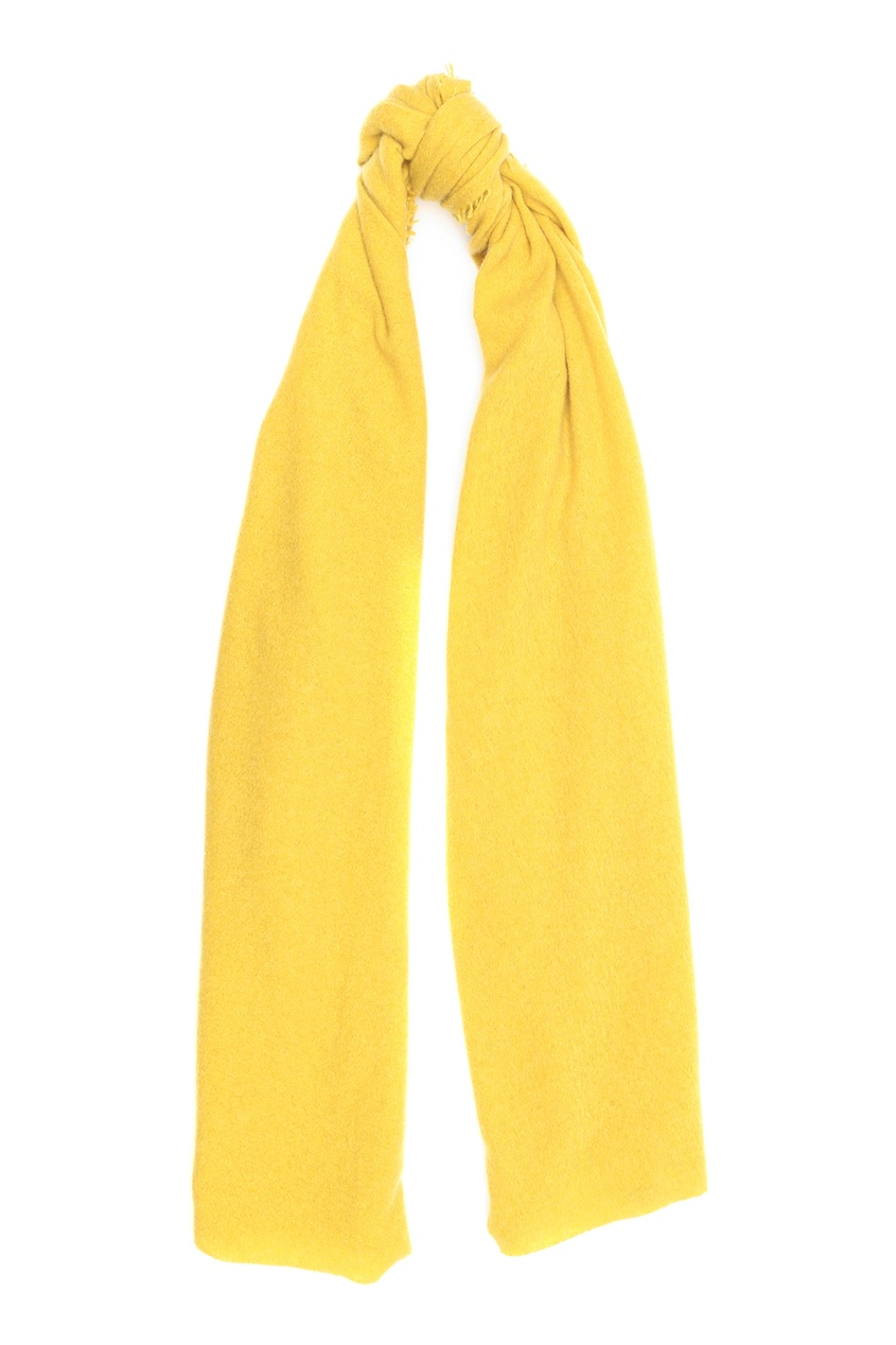 Желтый кашемировый шарф Faliero Sarti