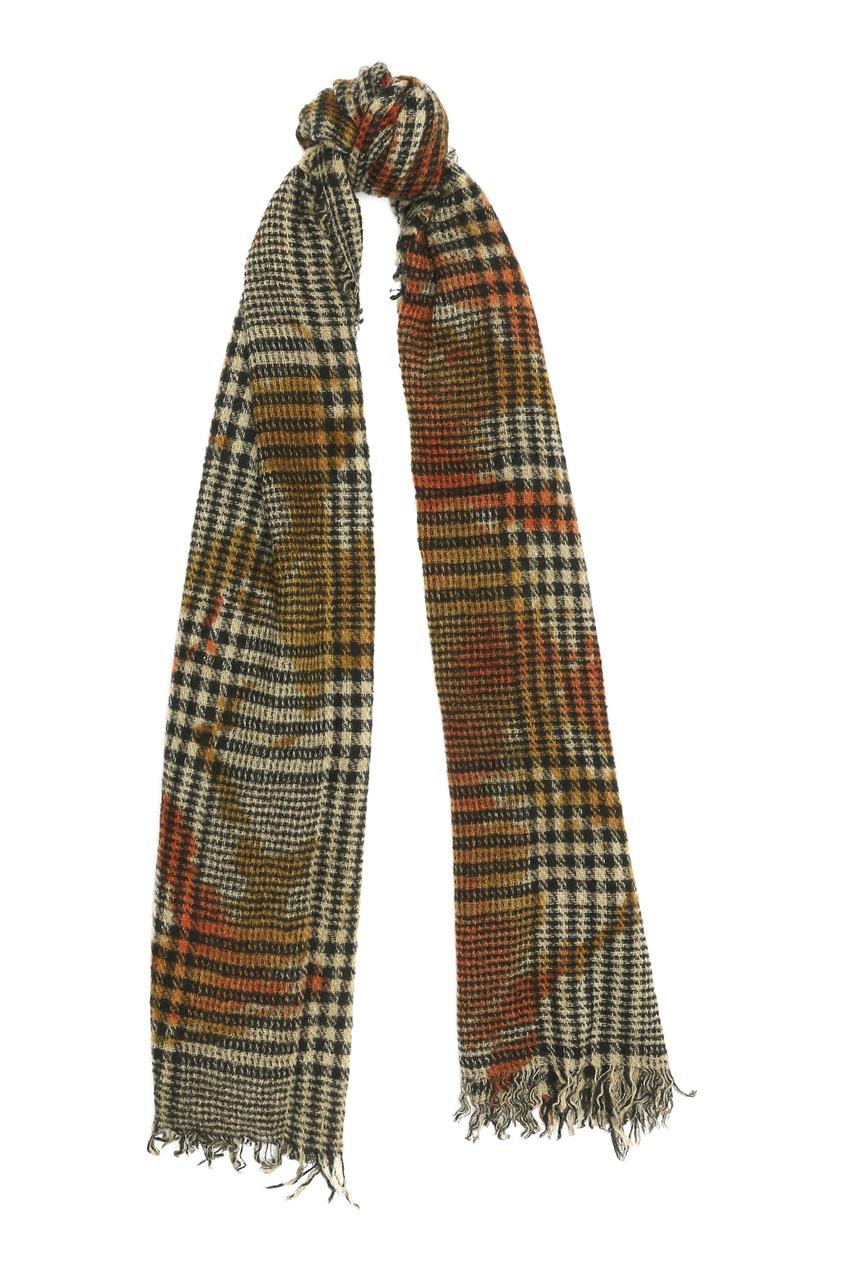 Клетчатый шарф из кашемира и шелка Faliero Sarti