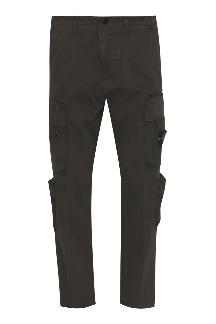 мужские брюки stone island, коричневые