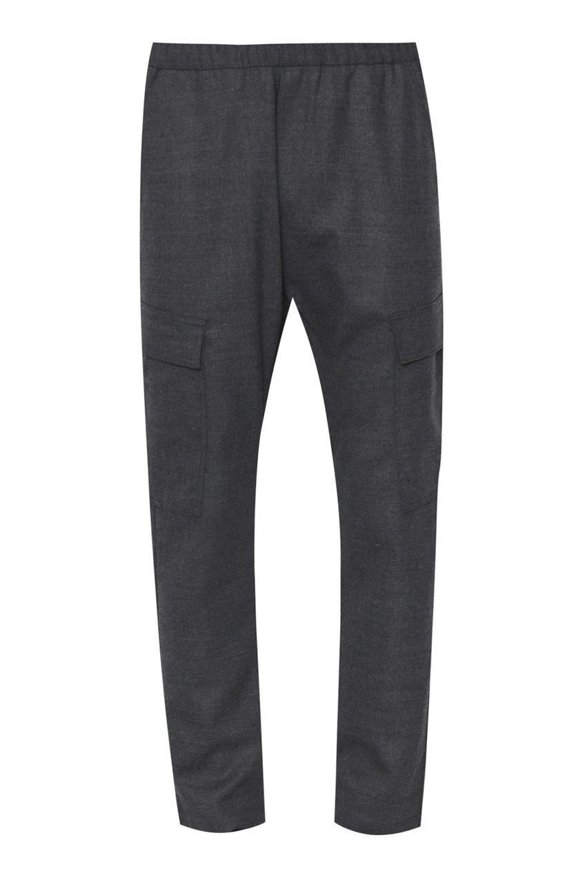 мужские шерстяные брюки barena, серые
