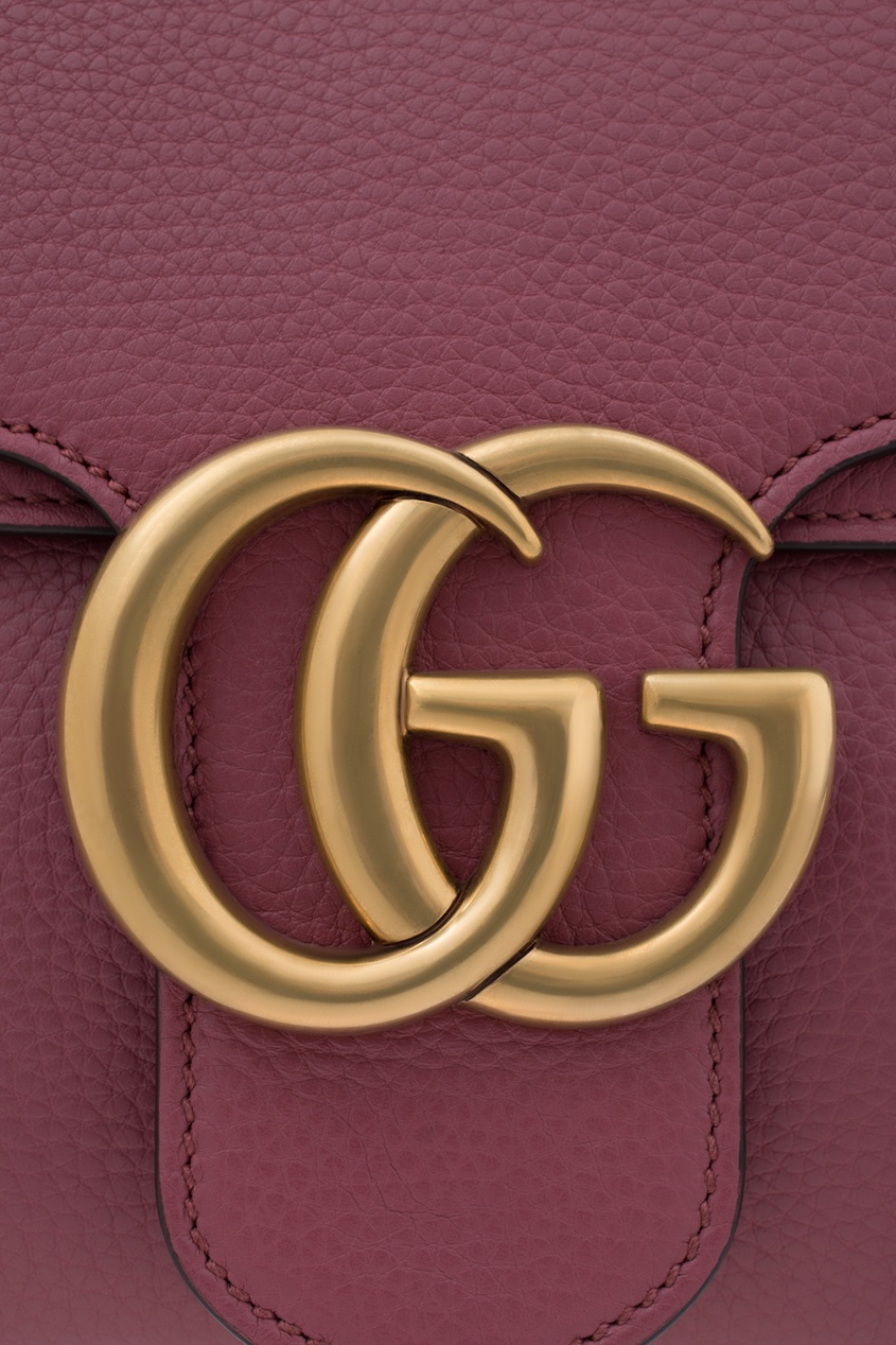 Кожаная сумка GG Marmont Leather Shoulder Bag