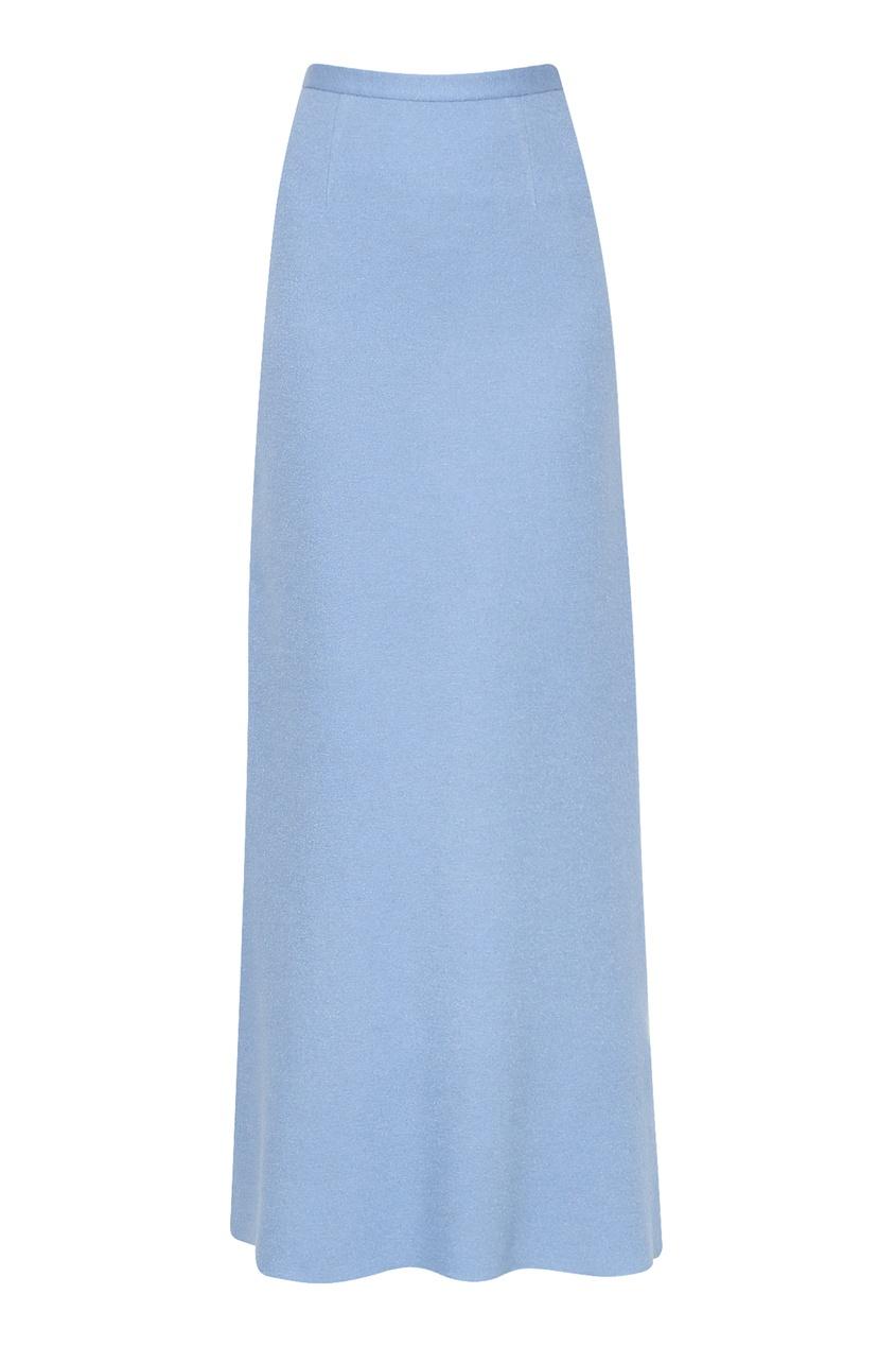 Голубая юбка-макси