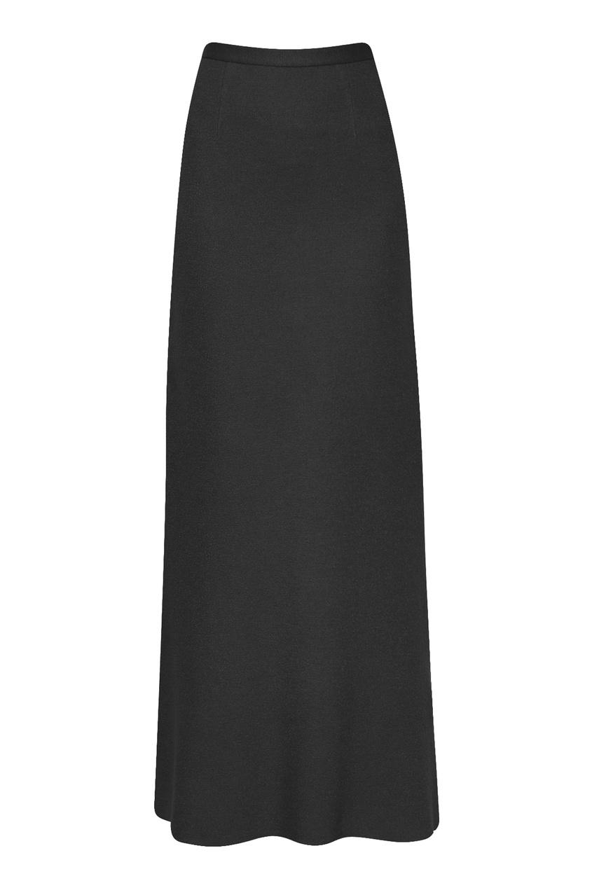 женская юбка макси ermanno scervino, черная