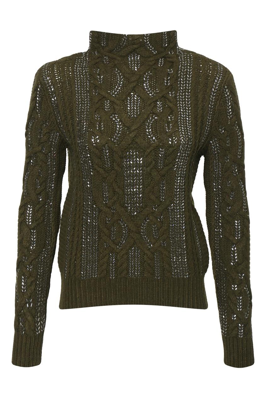 женский свитер ermanno scervino, зеленый