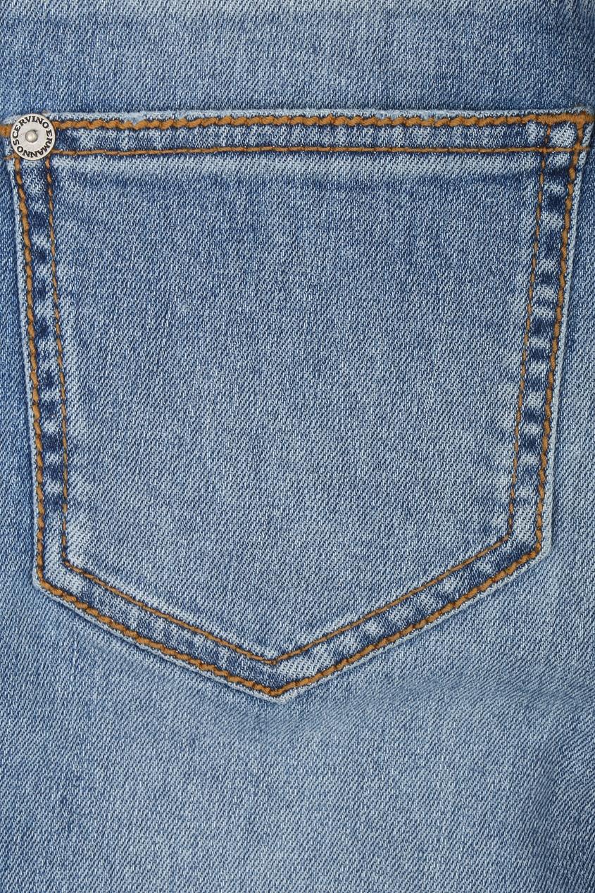 женские джинсы скинни ermanno scervino, синие