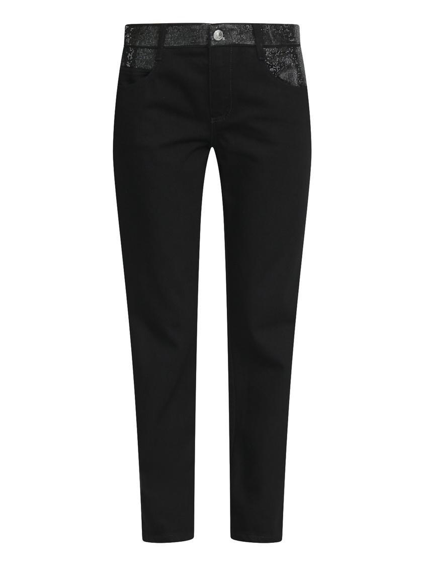 женские прямые джинсы ermanno scervino, черные