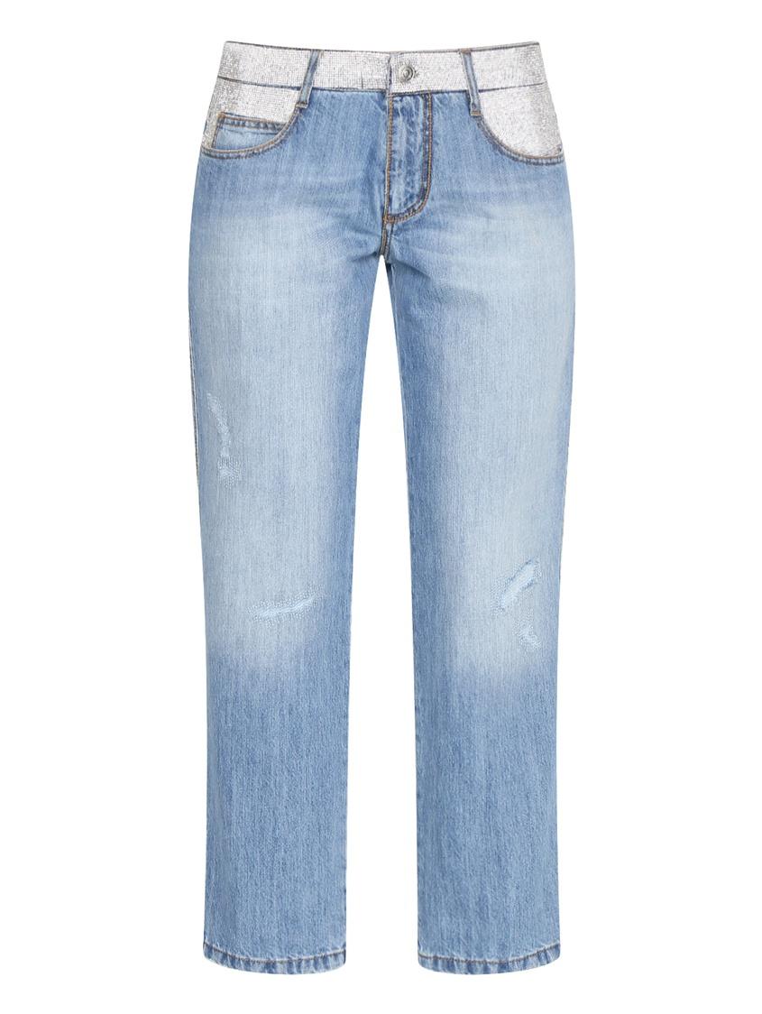 женские прямые джинсы ermanno scervino, синие