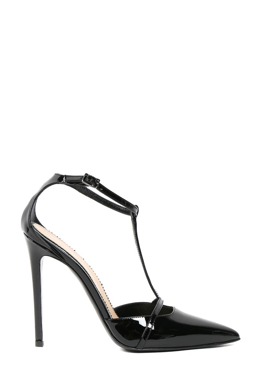 женские туфли на каблуке ermanno scervino, черные