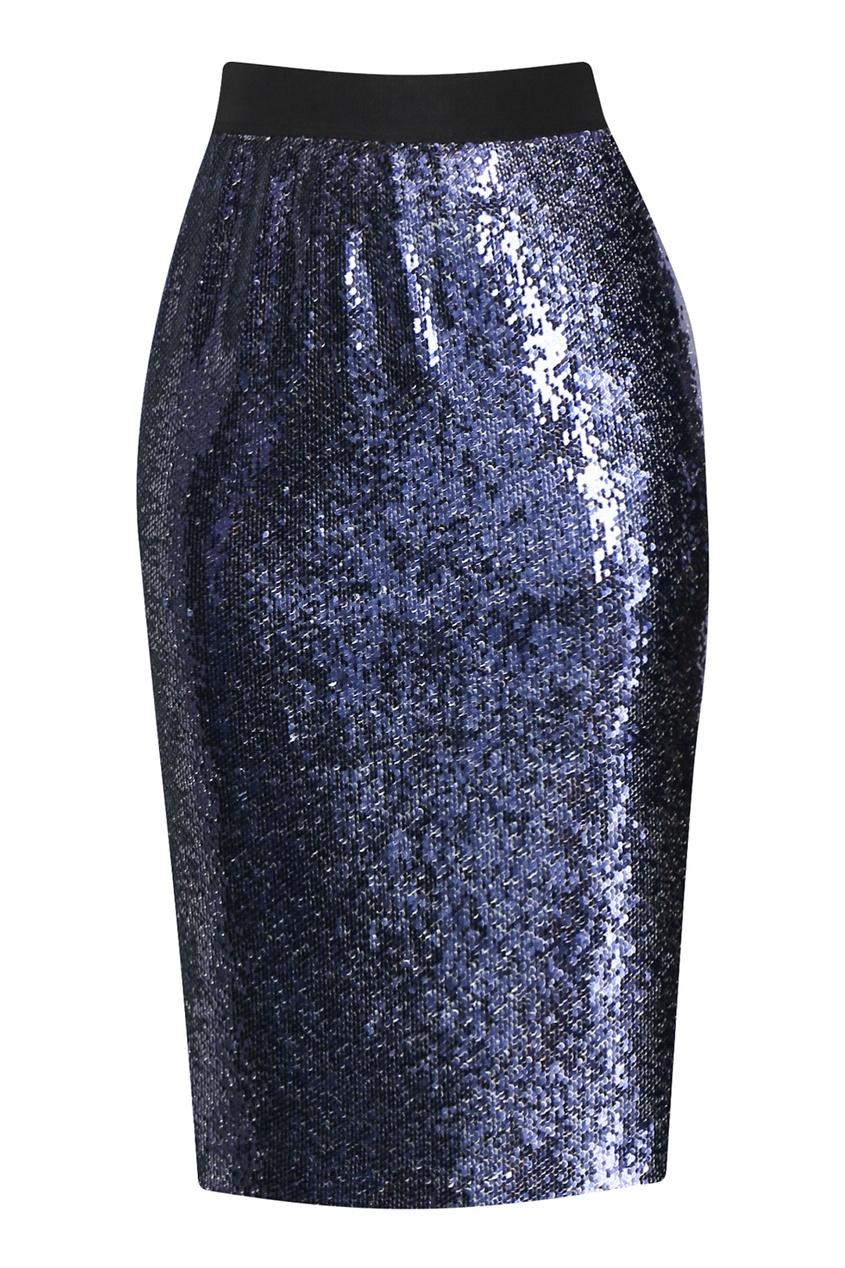 женская юбка marina rinaldi, синяя