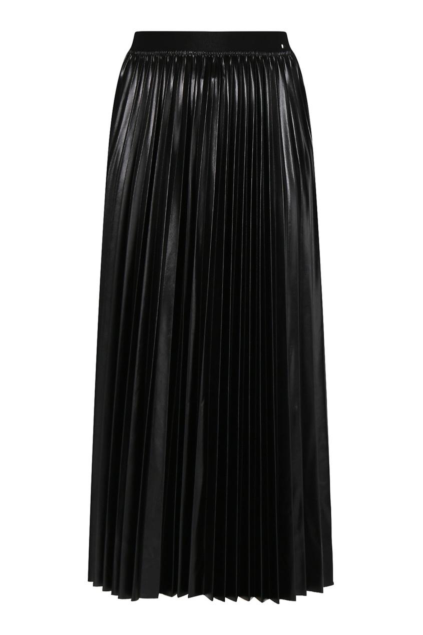 женская плиссированные юбка marina rinaldi, черная