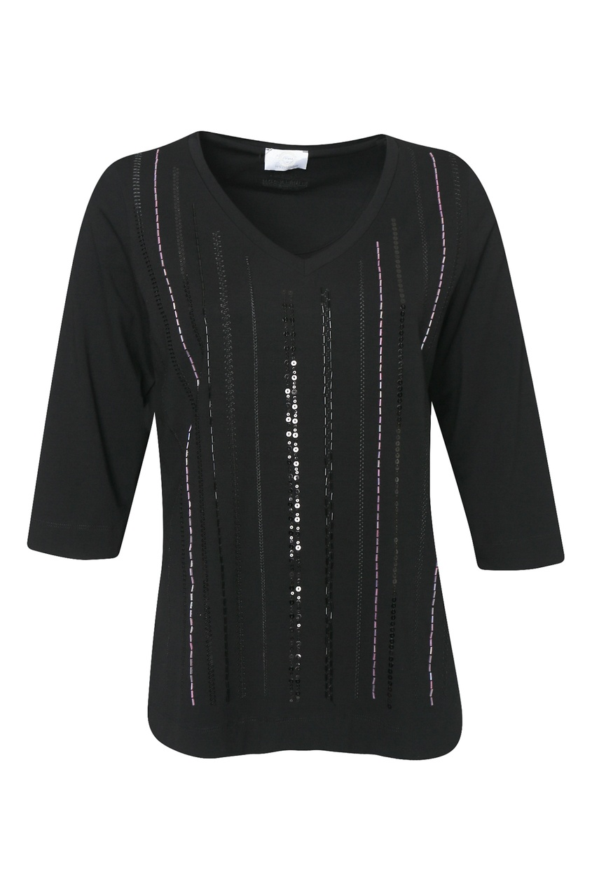 женский пуловер marina rinaldi, черный