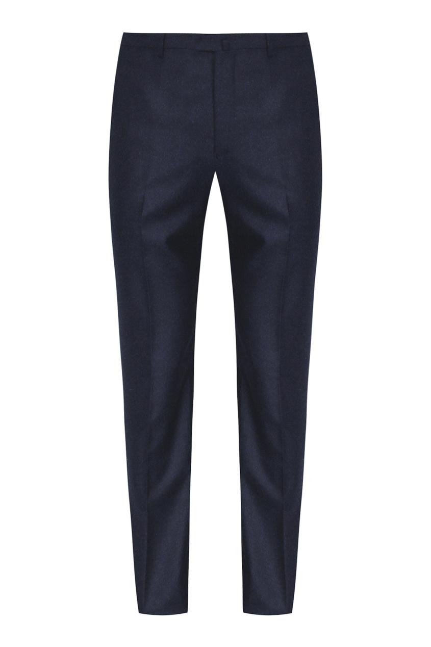 мужские шерстяные брюки isaia, синие