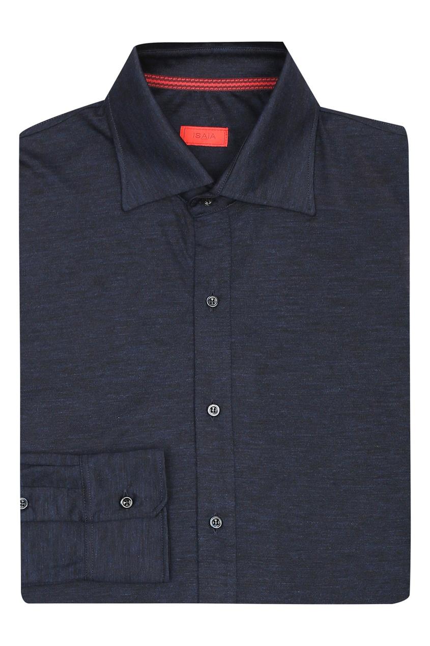 мужская рубашка isaia, синяя