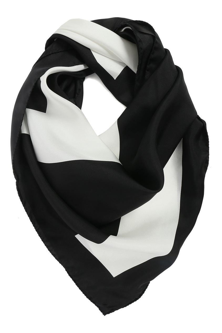 женский шелковые платок marina rinaldi, черный