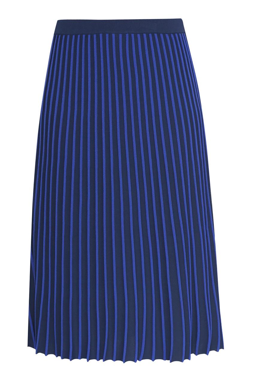 женская юбка в полоску marina rinaldi, синяя
