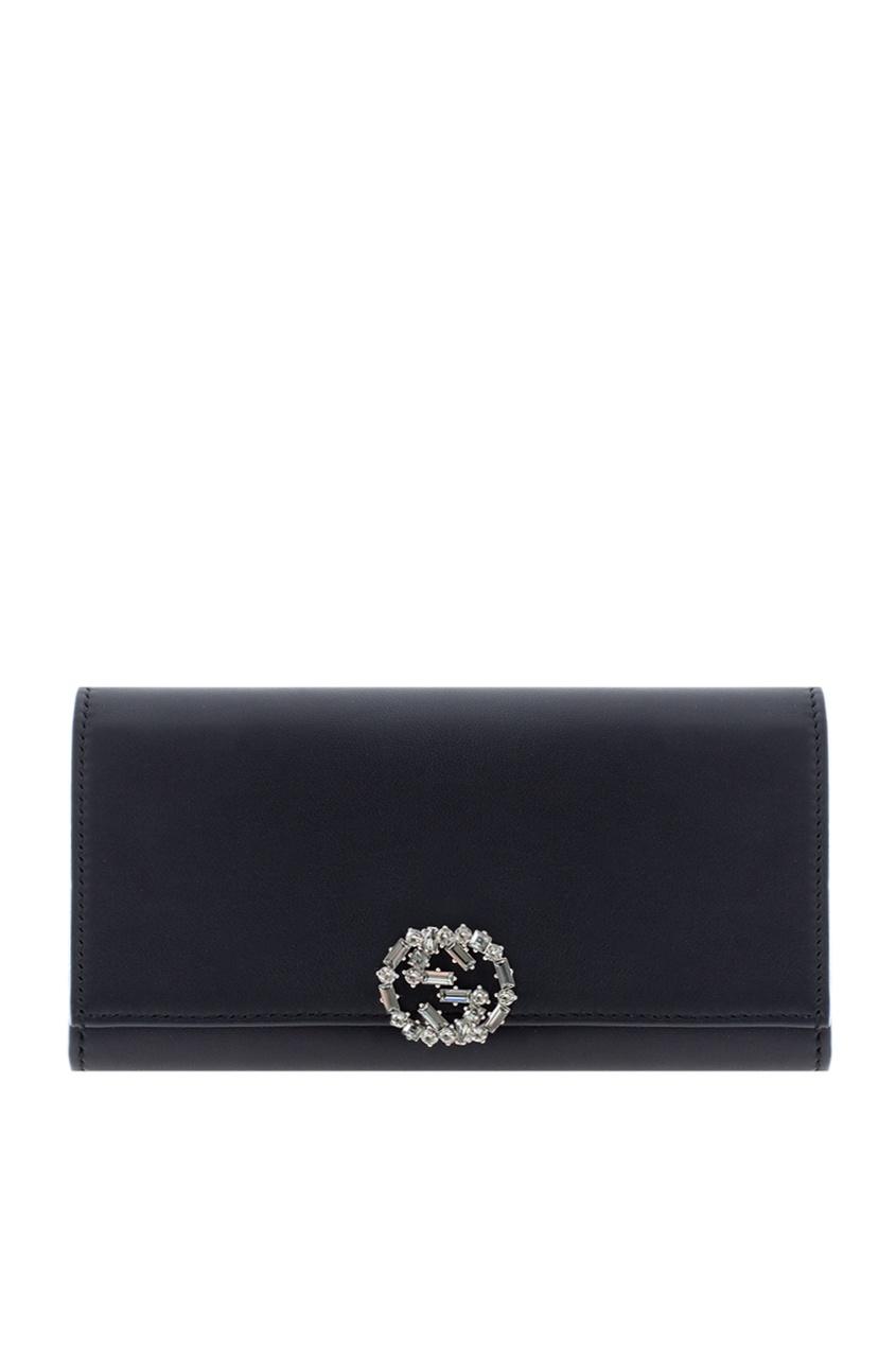 Кожаный кошелек GG sparkling