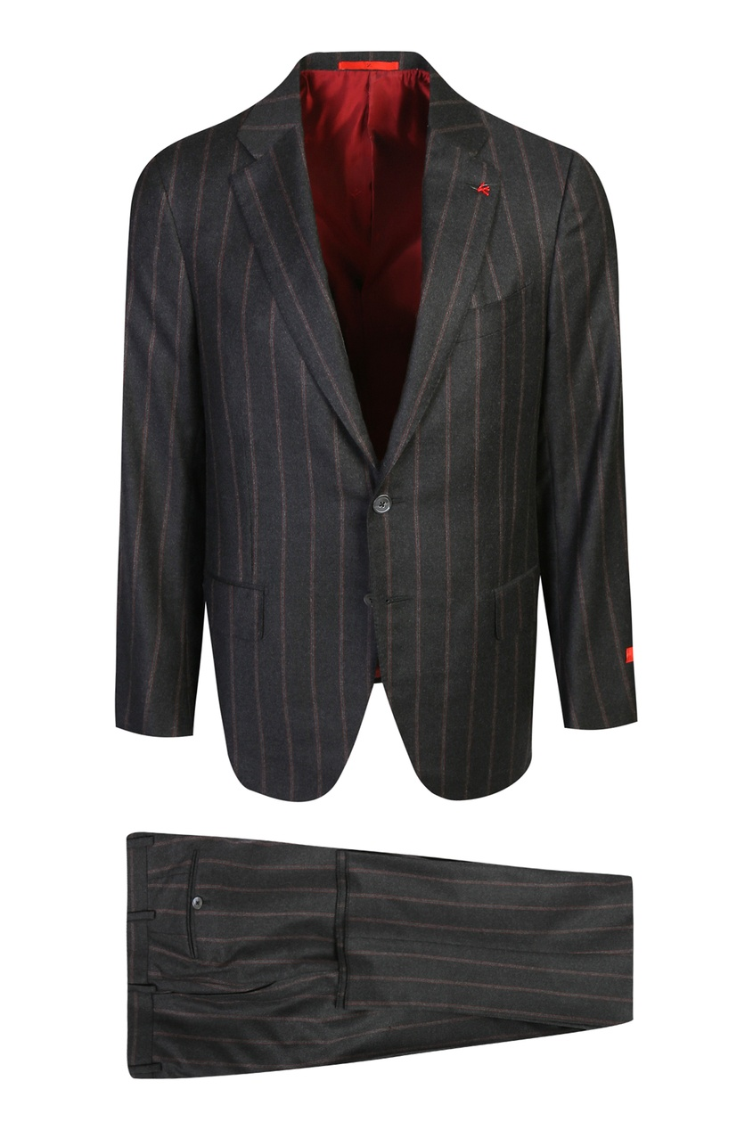 мужской костюм isaia, черный