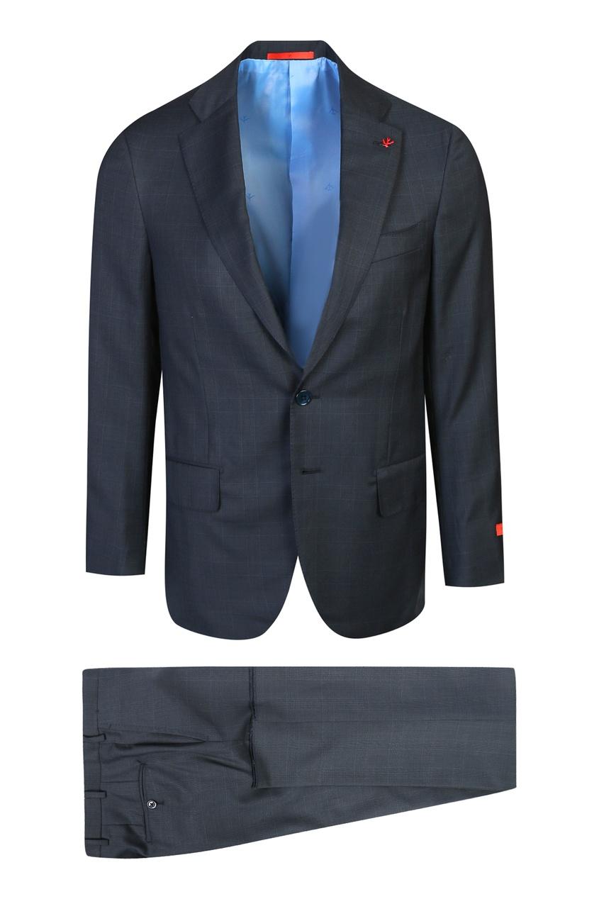 мужской классические костюм isaia, синий