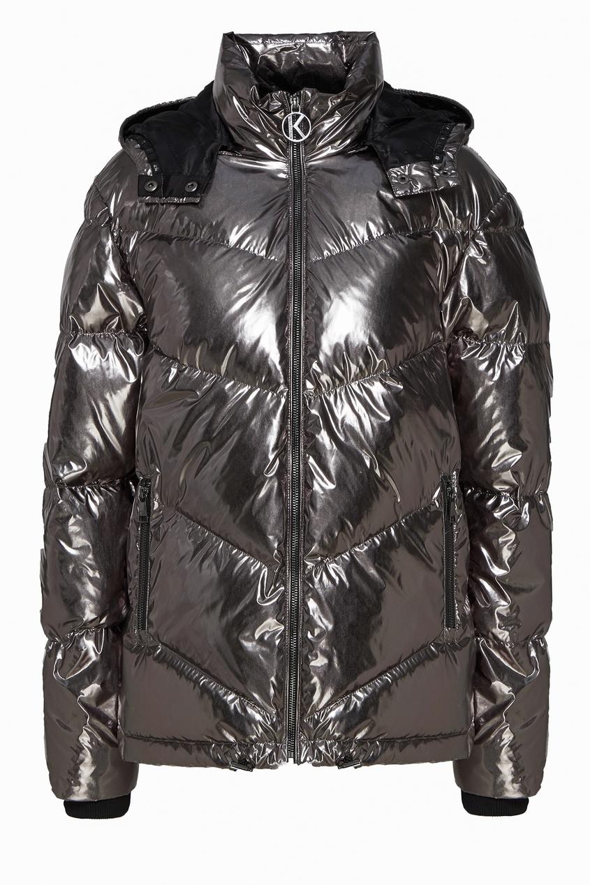 женская куртка стеганные karl lagerfeld