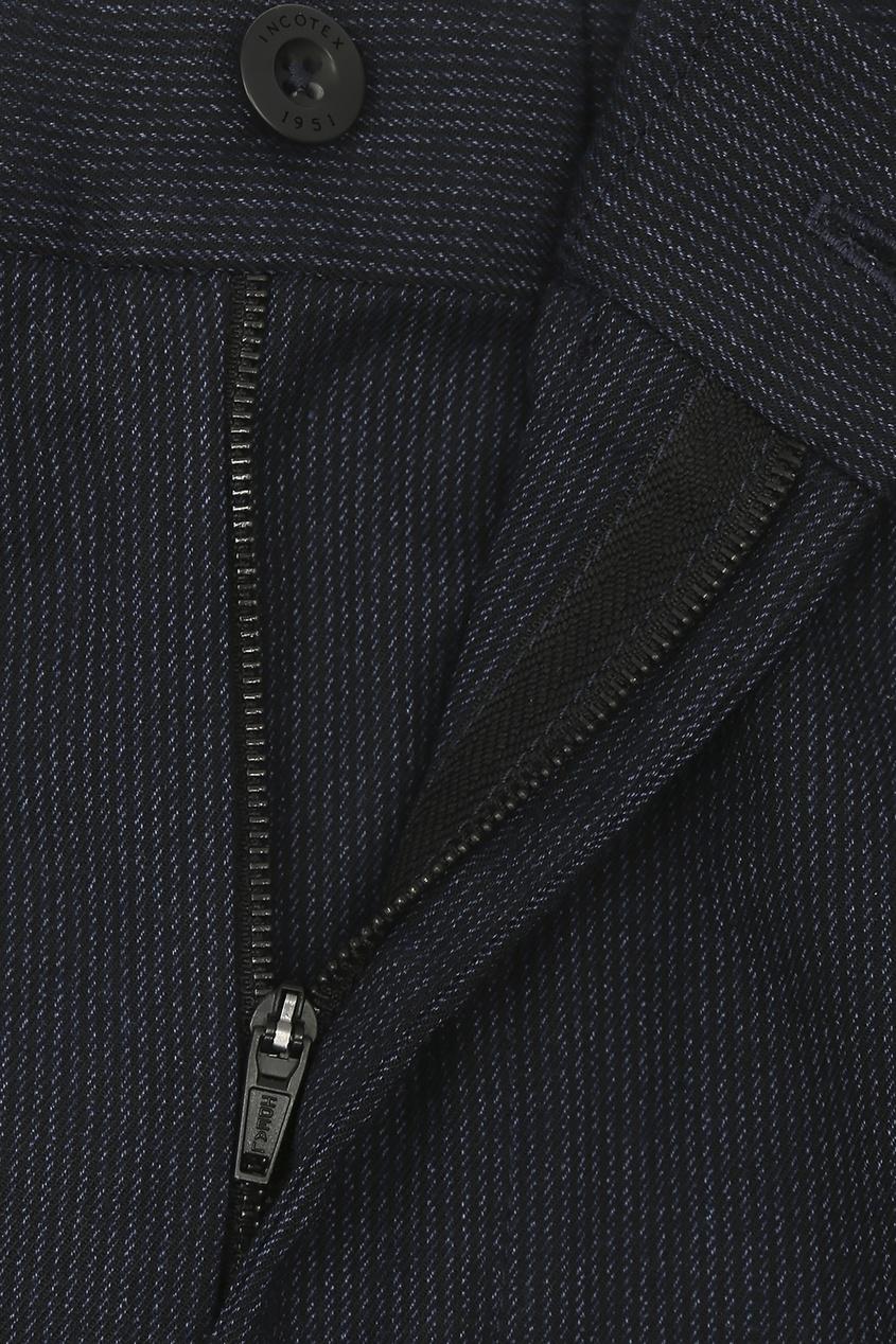 мужские брюки incotex, синие
