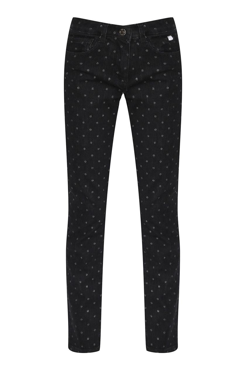 Черные джинсы с блестками от Il Gufo