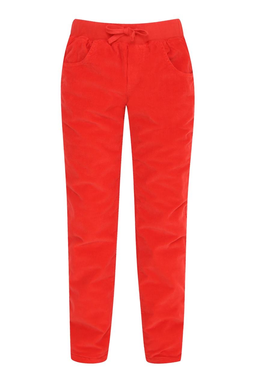 Красные вельветовые брюки на мальчика от Il Gufo
