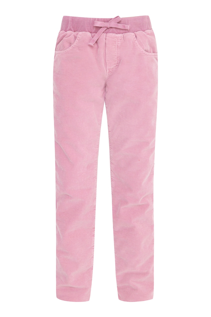 Розовые вельветовые брюки на мальчика от Il Gufo