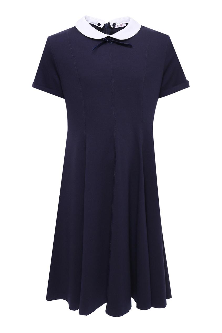 Синее платье с белым воротником IL Gufo