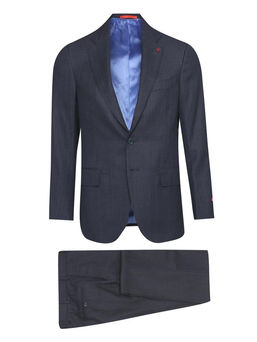 мужской костюм isaia, синий