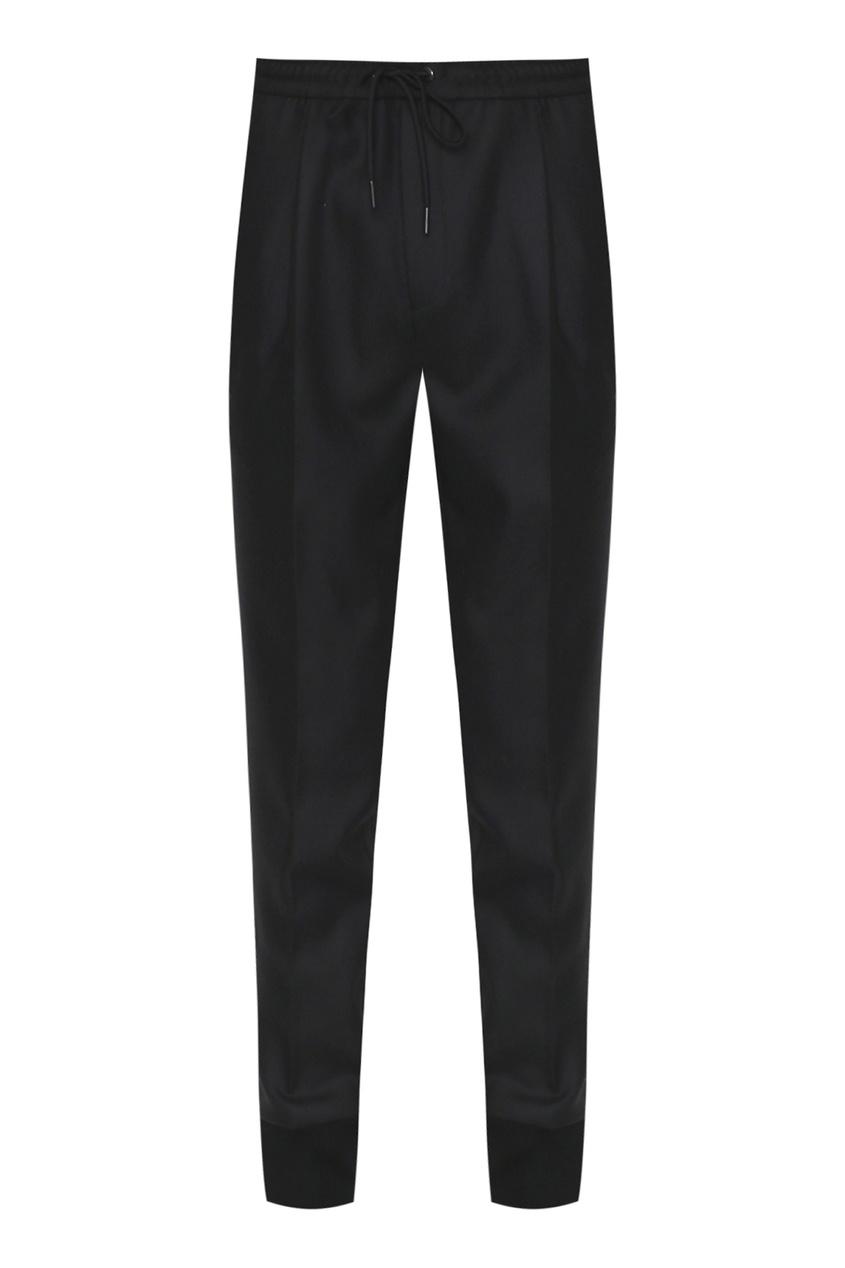 мужские шерстяные брюки moncler, черные