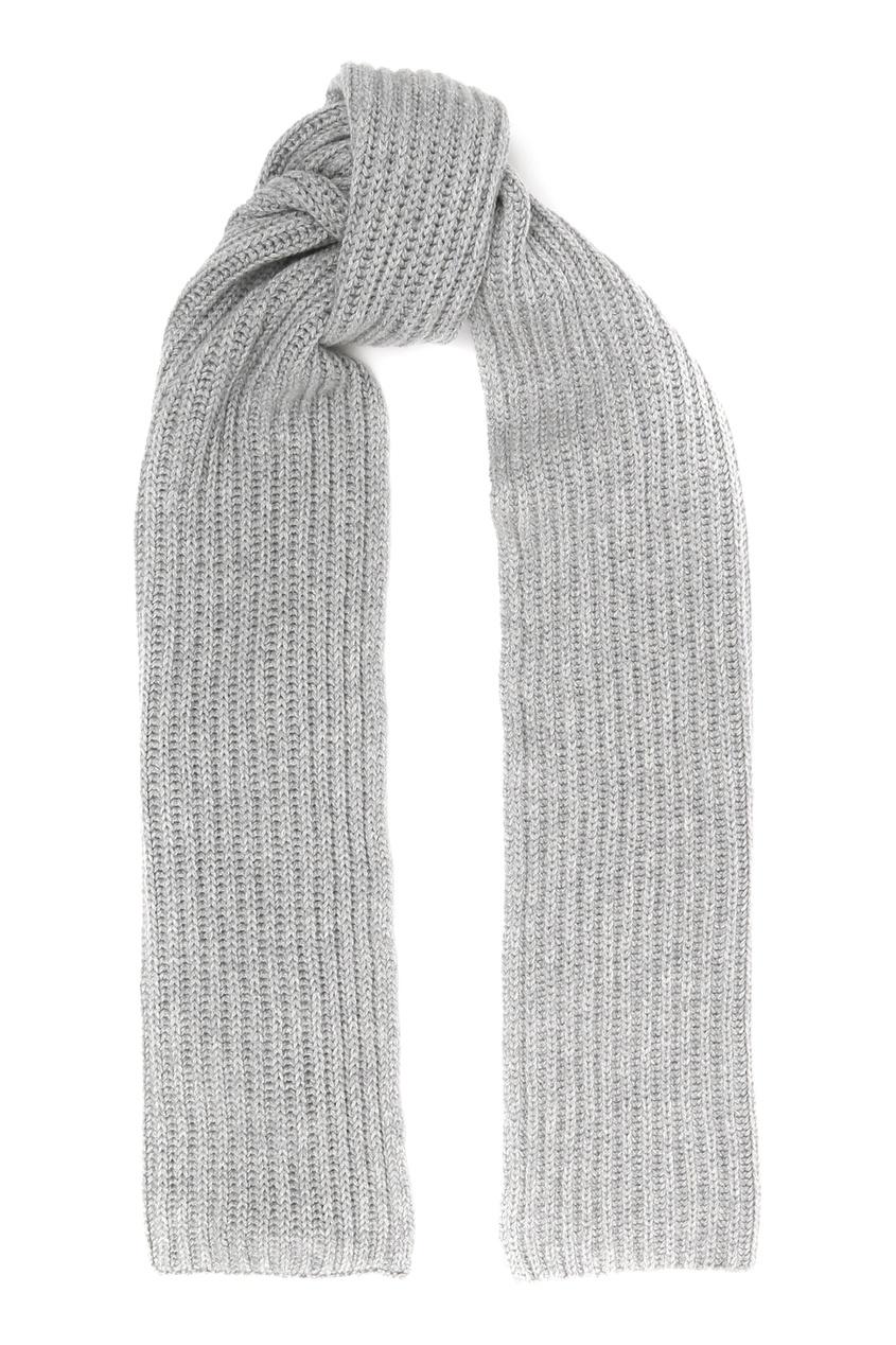 Серый кашемировый шарф Della Ciana