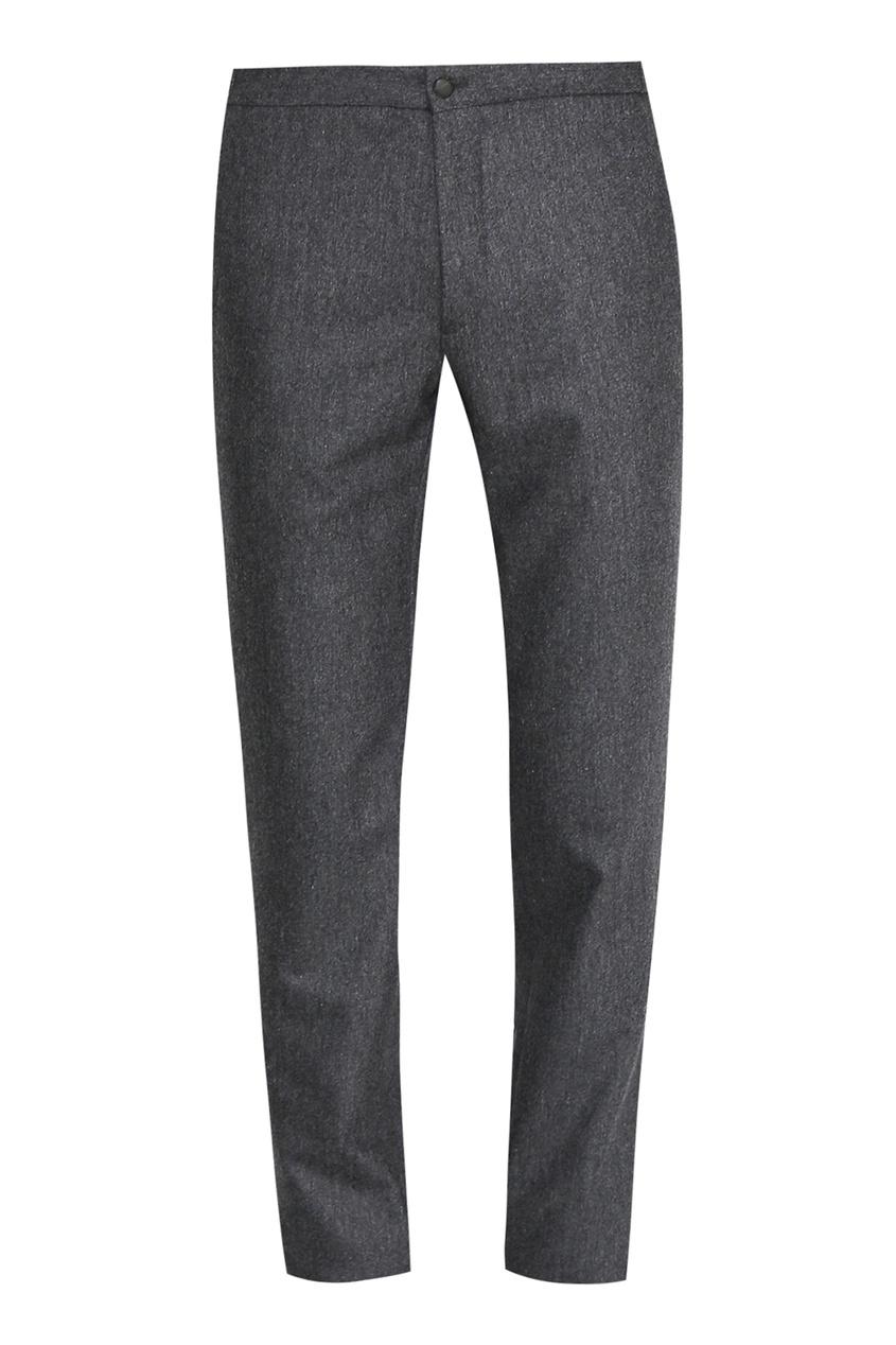 мужские шерстяные брюки incotex, серые