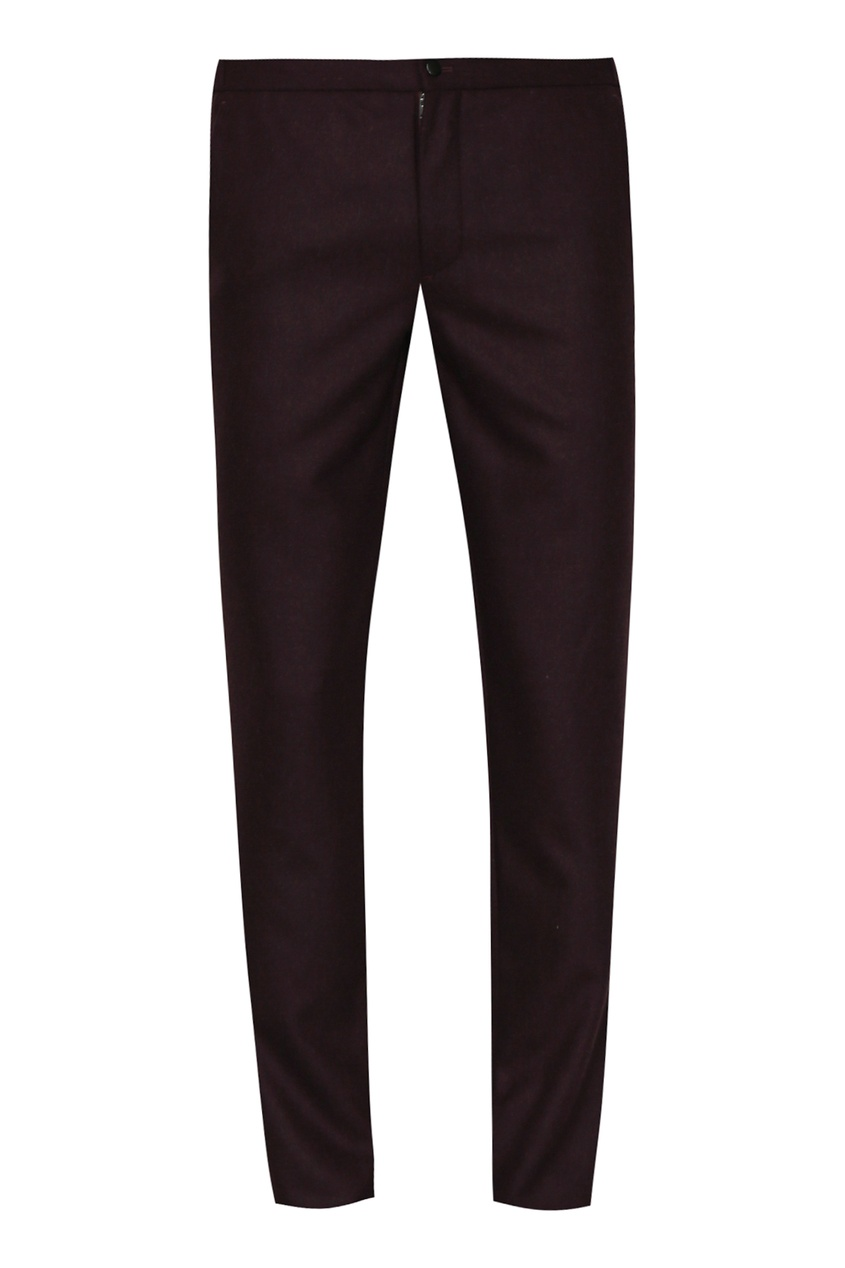 мужские шерстяные брюки incotex, красные