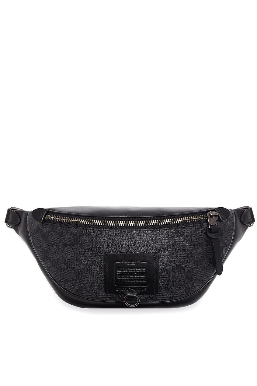 мужская поясные сумка coach, коричневая