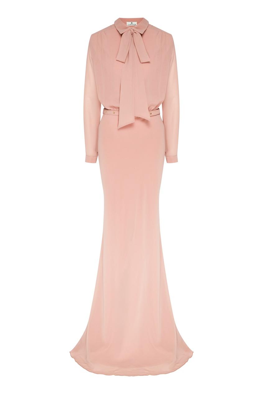женское платье-рубашки laroom, розовое