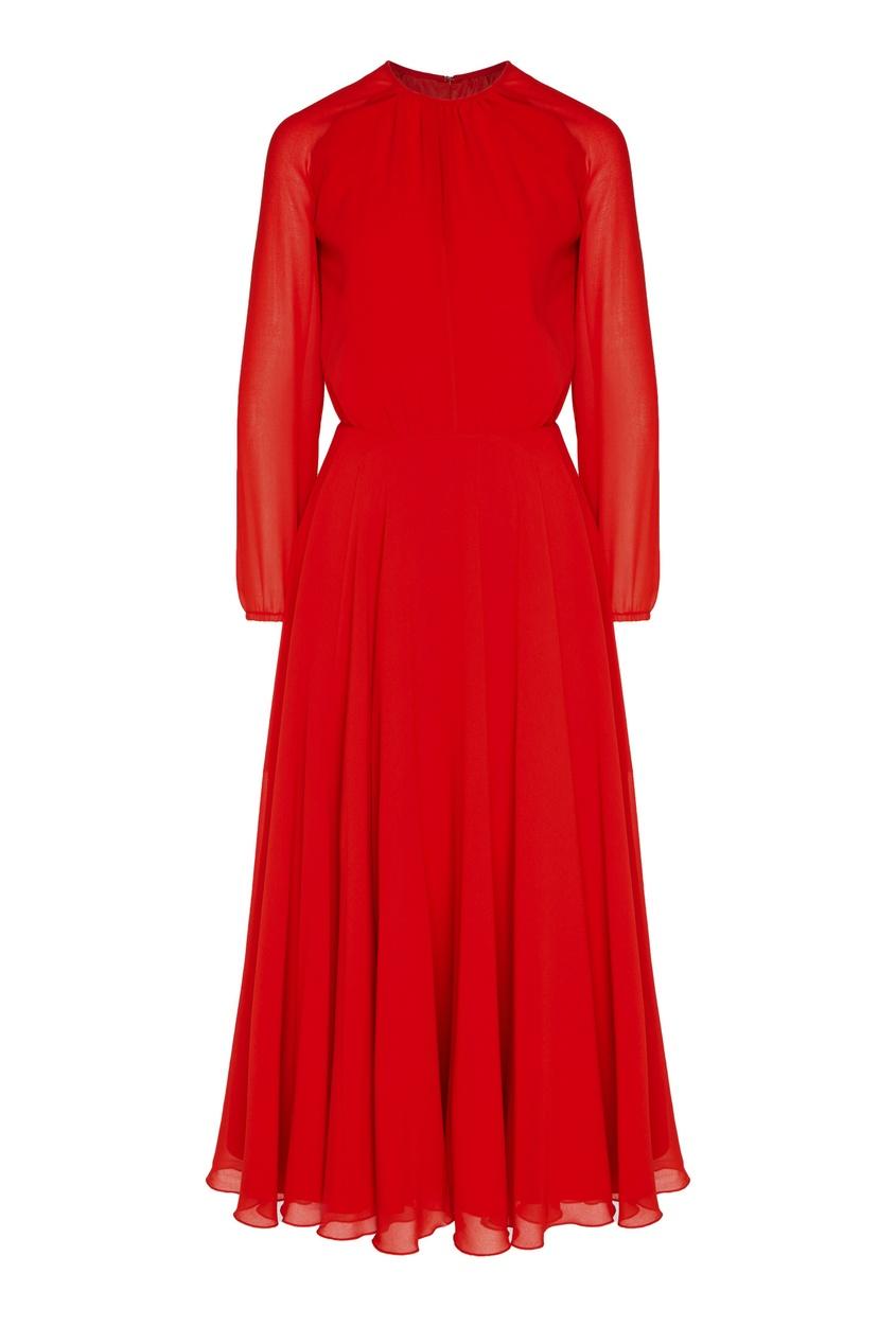 женское платье миди laroom, красное