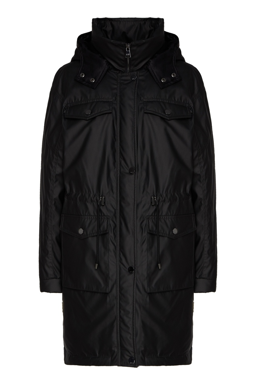 Черная куртка с металлическим блеском фото